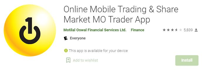 Motilal Oswal Trader app from play store