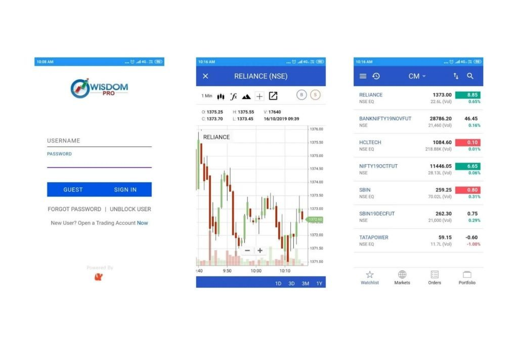Wisdom Capital App - Nifty Brokers Review